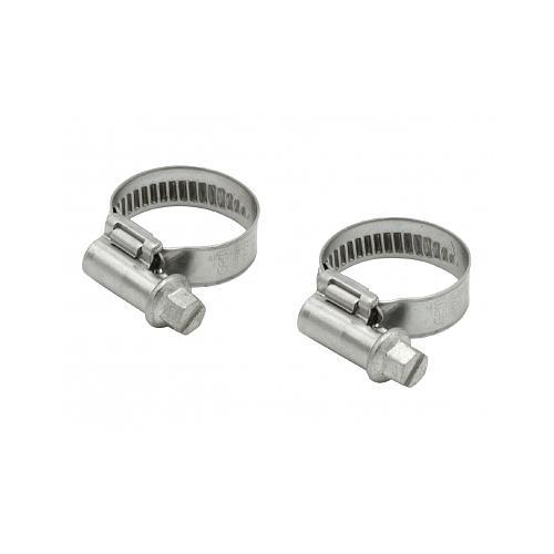 2 colliers pour tuyau Ø int. 10-12 mm