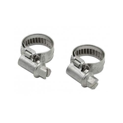 2 colliers pour tuyau Ø int. 8 mm