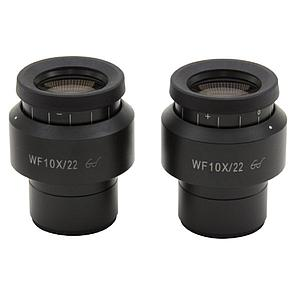 2 oculaires WF10x / 22 mm - Optika