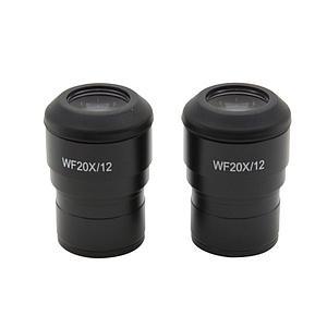 2 oculaires WF20x / 12 mm - Optika