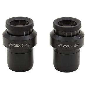 2 oculaires WF25x / 9 mm - Optika