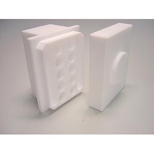 22.008.0008 - Adaptateur PTFE 10 tubes type Eppendorf 1.5 à 2 ml