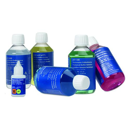 30095314 - Kit pH tout-en-un I (tampons pH 4,01/7/9,21, KCl, solution de nettoyage et de stockage) - 6 flacons de 250 ml - Mettler Toledo