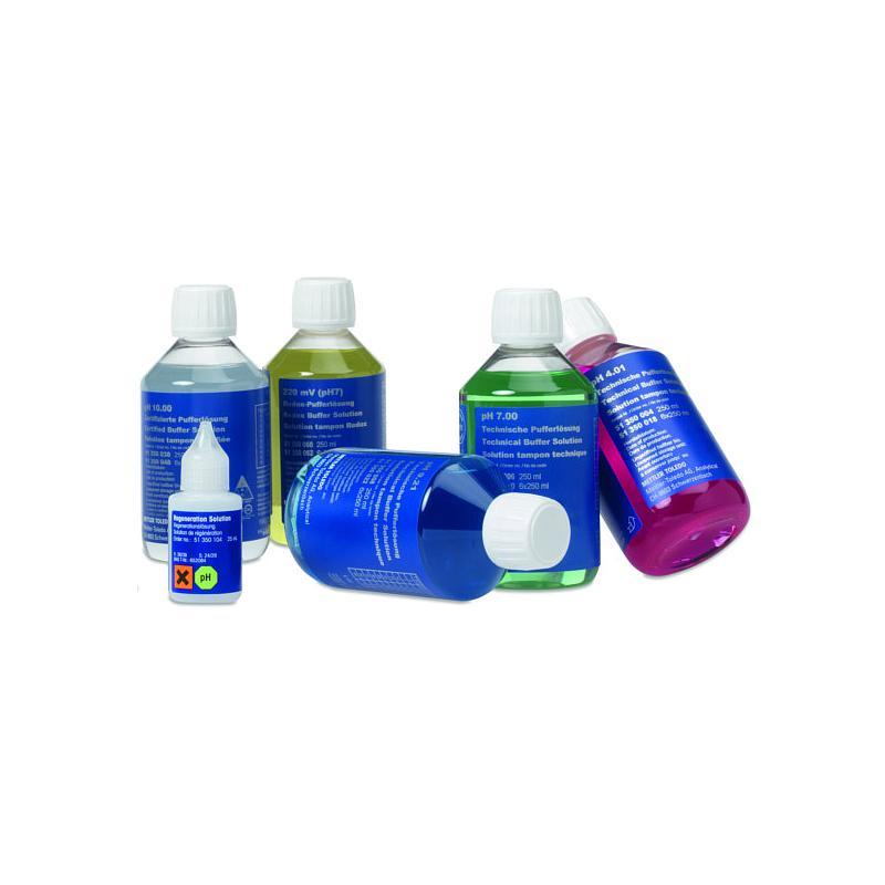 30095315 - Kit pH tout-en-un II (tampons pH 4,01/7/10, KCl, solution de nettoyage et de stockage) - 6 flacons de 250 ml - Mettler Toledo