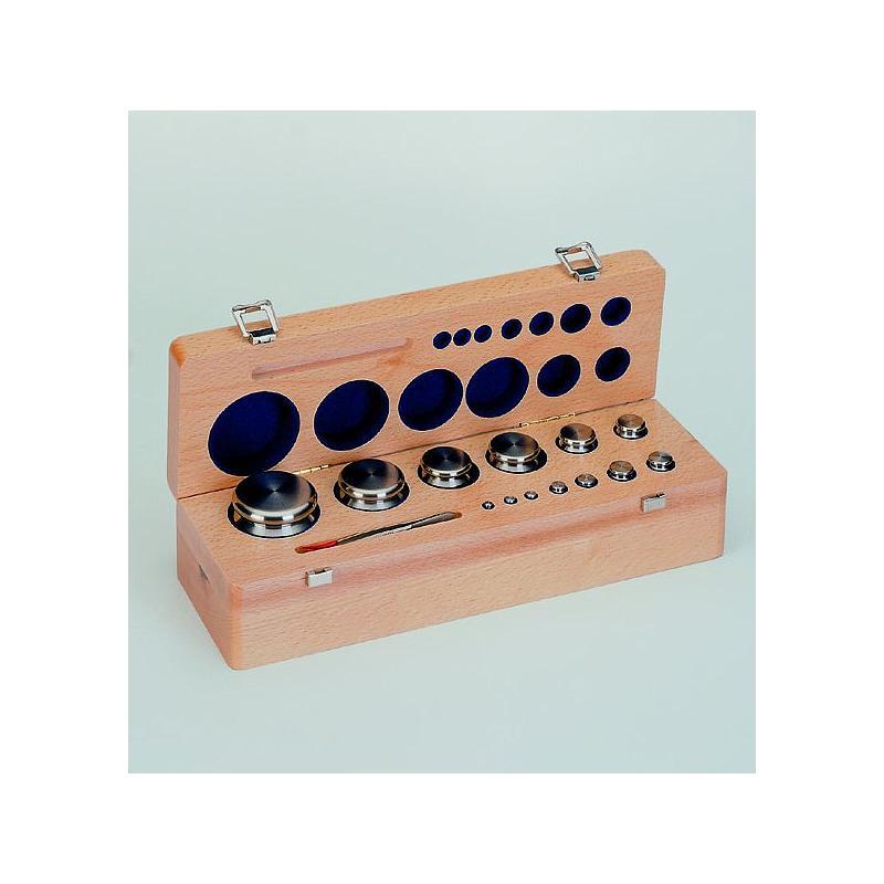 4.XMFB-710 - Jeu de poids étalon bouton et plats 100mg - 500mg  classe M2