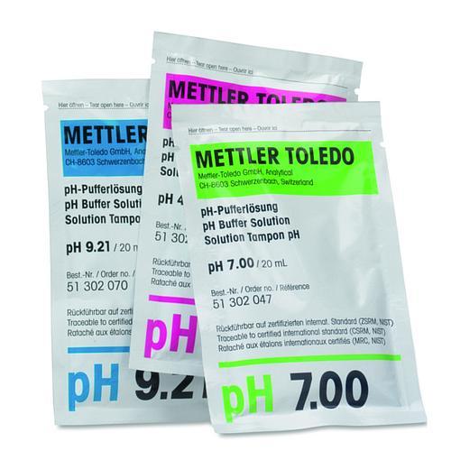 51302068 - 3 x 10 Sachets Arc-en-ciel I (pH 4,01/7,00/9,21) - Solutions tampons - Mettler toledo