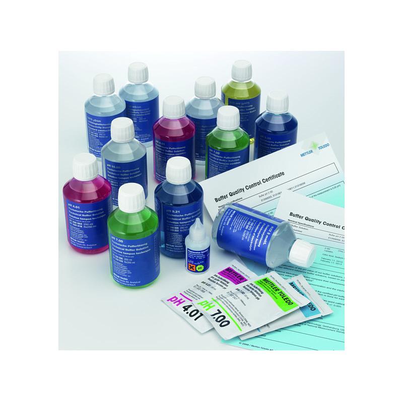 51350042 - Tampon pH 4,01 - 6 flacons de 250 ml - Certifié DKD - Mettler toledo