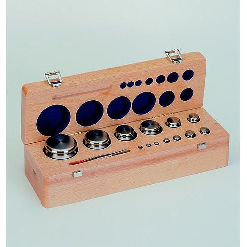 6.XFGB-830 - Jeu de poids étalon bouton et plats 1mg - 5kg  classe F2