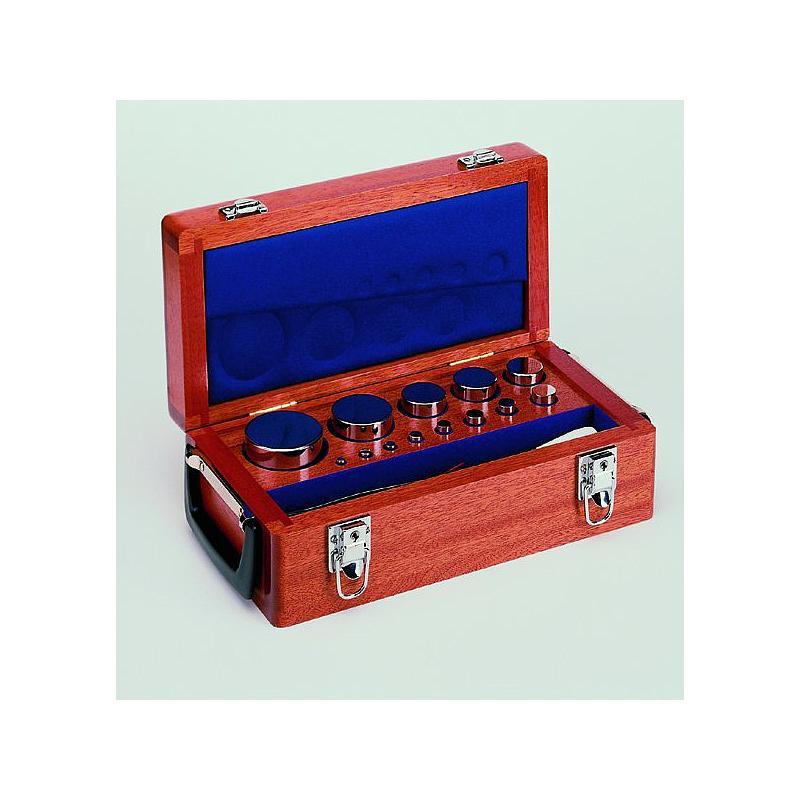 9.XNHM-850 - 2 x Jeu de poids étalon bouton et plats 1mg - 1kg  classe E1