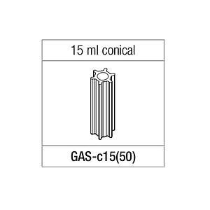 Adaptateur pour tube conique 15 ml pour rotor GRF-L-50-6, GRF-G/L-50-8 - Gyrozen