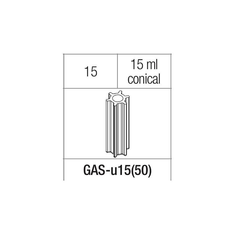 Adaptateur pour tubes 15 ml à fond rond et conique - Gyrozen