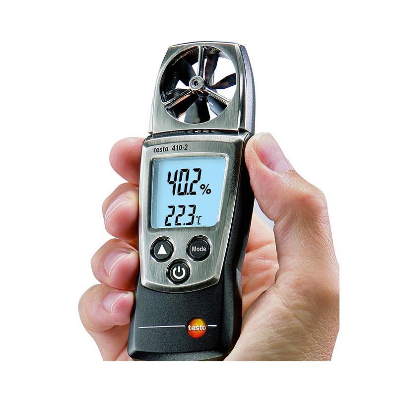 Anemometre : Mesure de la vitesse d'air - anémomètre à hélice - Testo 410-2