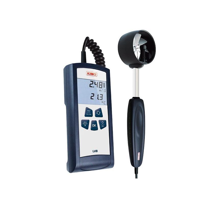 Anemometre : Mesure de la vitesse d'air - thermo-anémomètre à hélice Ø 70 mm - LVB