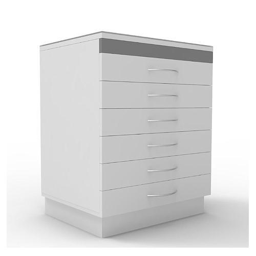 Armoire à échantillons, 6 tiroirs, L600 x p500 x H730 mm