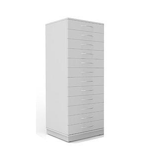 Armoire à échantillons à 12 tiroirs, L600 x p600 x H1600 mm