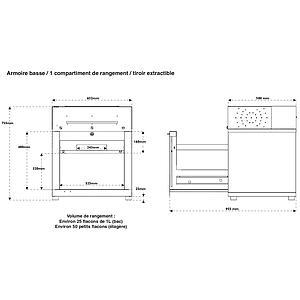 Armoire basse de sécurité ventilée, filtrée Captair 822 Smart Midcap, version 2 - Erlab