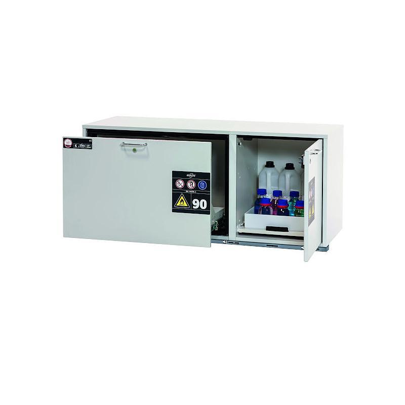 Armoire de sécurité combinée sous paillasse L.1402xP502xH601 mm