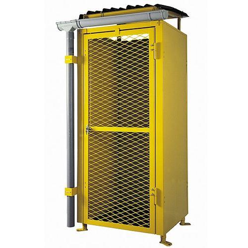 Armoire de sécurité grillagée pour stockage extérieur de 6+6+3 bouteilles de gaz - LED 6+3+3