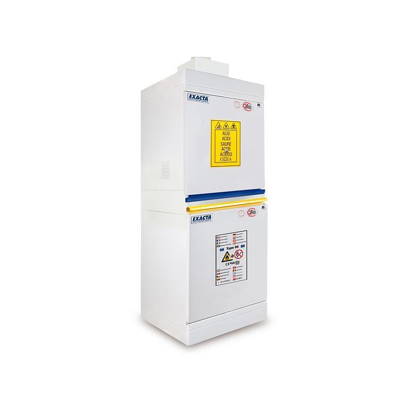 Armoire de sécurité multirisques COMBISTORAGE 2 - Acides / Bases + Inflammables (anti-feu type 90')