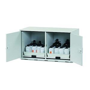 Armoire de sécurité sous paillasse (acides/bases) L.1100xP.570xH.600 mm