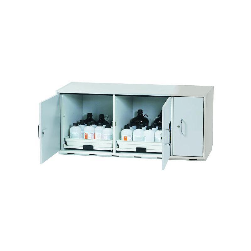 Armoire de sécurité sous paillasse (acides/bases) L.1400xP.570xH.600 mm