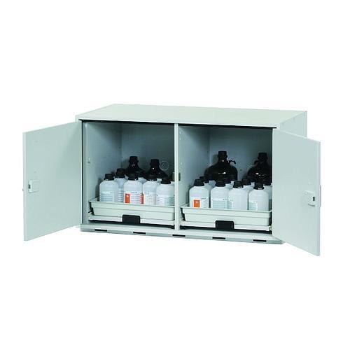 Armoire de sécurité sous paillasse (acides/bases) L1100 x p570 x H600 mm - 2 tiroirs
