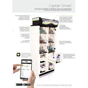 Armoire de sécurité ventilée, filtrée Captair 834 Smart, équipement 1 - sans filtre