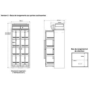 Armoire de sécurité ventilée, filtrée Captair 834 Smart, équipement 2 - Erlab