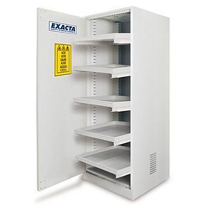 Armoire pour produits chimiques à étagères coulissantes ECO6E