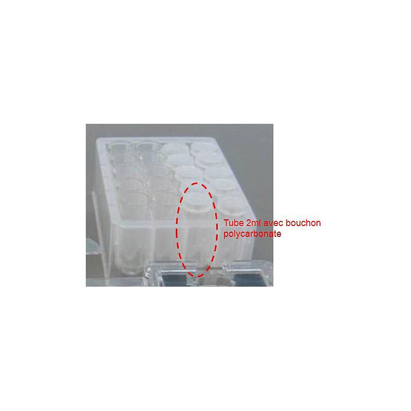 AX-SV-58 - Tubes à échantillon en polycarbonate avec bouchons (Lot de 100 tubes)