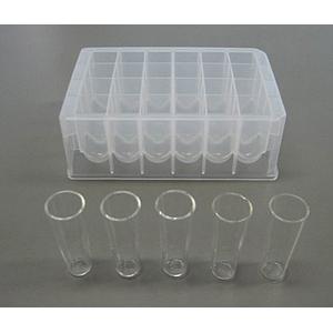 AX-SV-59 - Tubes à échantillon de 2 ml en verre (5 tubes et 1 rack)