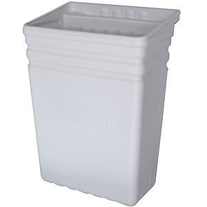 Bac poubelle amovible gris clair en polyéthylène
