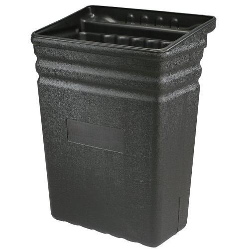 Bac poubelle amovible noir en polyéthylène