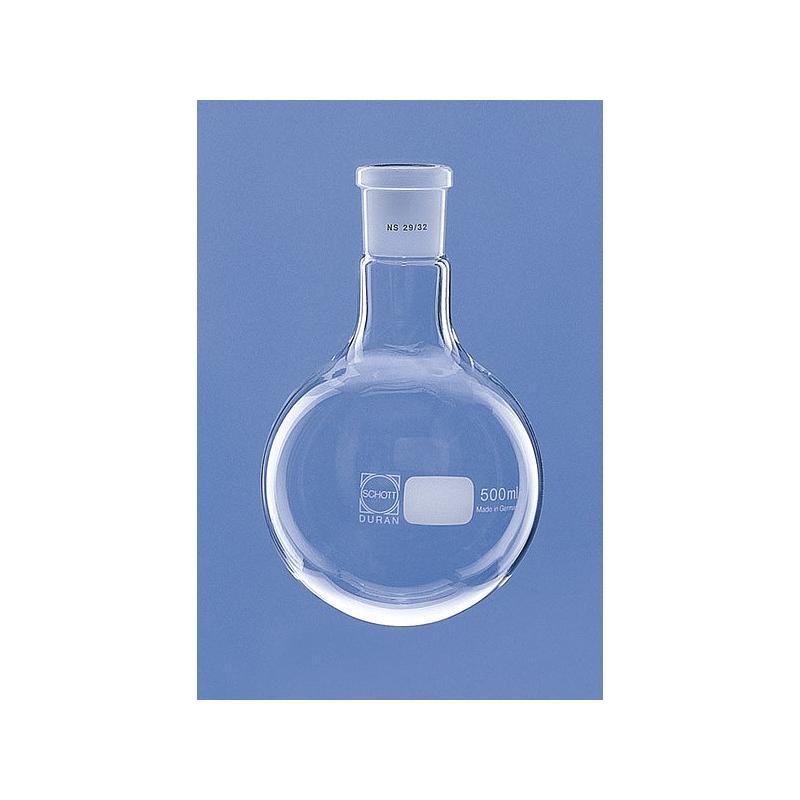 Ballon col rodé 19/26 en verre Duran - 500 ml - Lenz