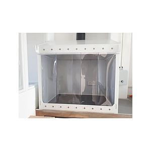 Bandeau à lanière en PVC souple transparent, L1200 x H800 mm