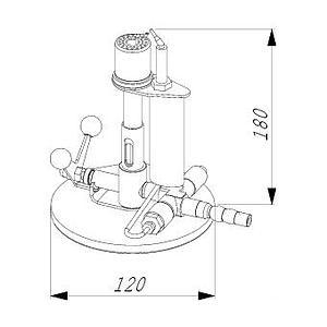 Bec de sécurité JUMBO avec robinet basculant - Propane