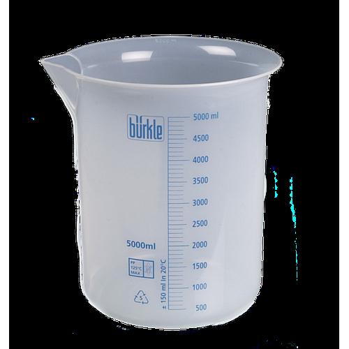 Bécher forme basse en PP - 5000 ml - Bürkle