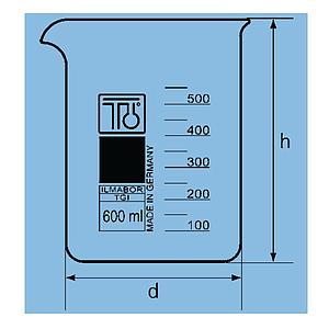 Bécher forme basse en verre - 10 ml - TGI