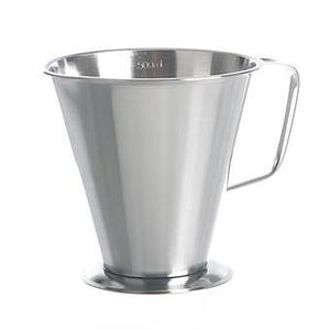 Bécher inox gradué - forme conique - 500 ml