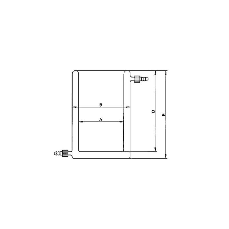 Bécher thermostatable en verre - 2000 ml - KGW