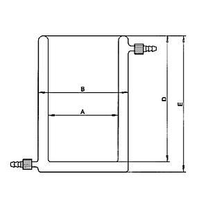 Bécher thermostatable en verre - 250 ml - KGW