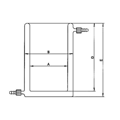 Bécher thermostatable en verre - 600 ml - KGW