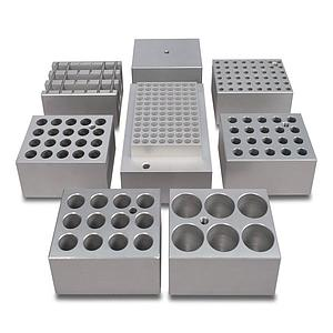 Bloc aluminium 6 tubes de 25 mm pour bains à sec - Stuart
