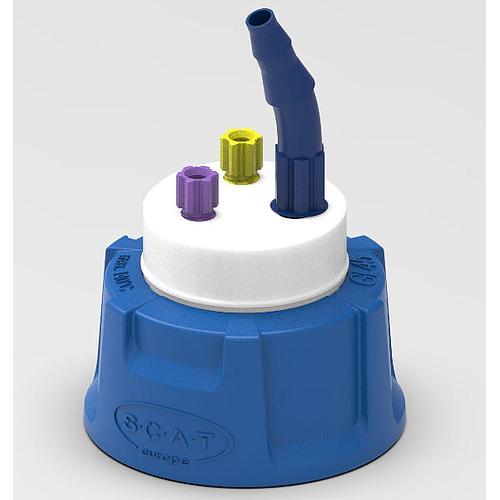 Bouchon de sécurité pour HPLC avec 2 raccords PFA et connecteur tuyau