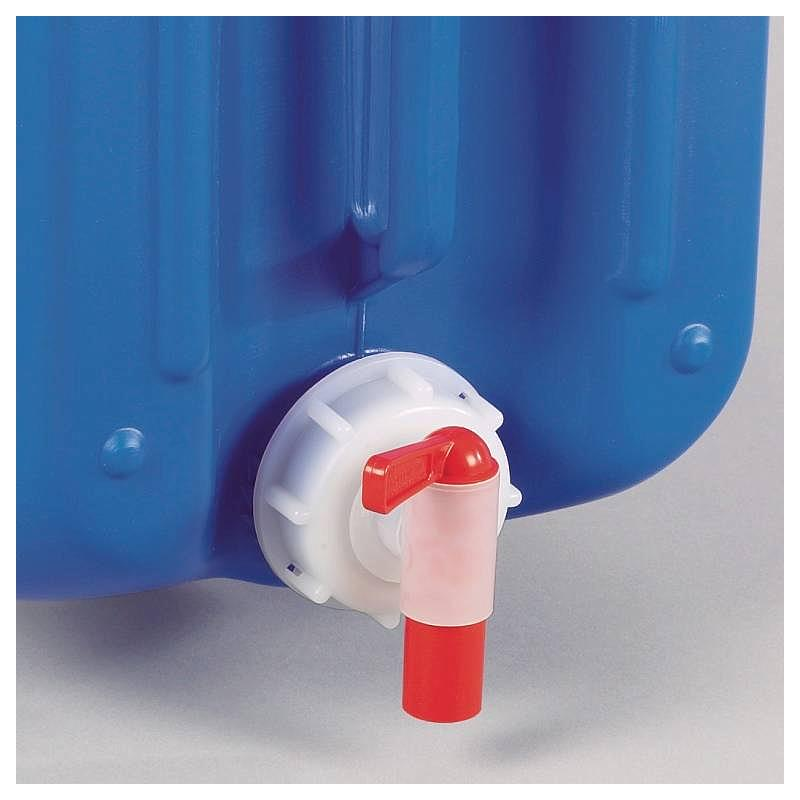 Bouchon fileté avec robinet d'écoulement - DIN 60 - Bürkle