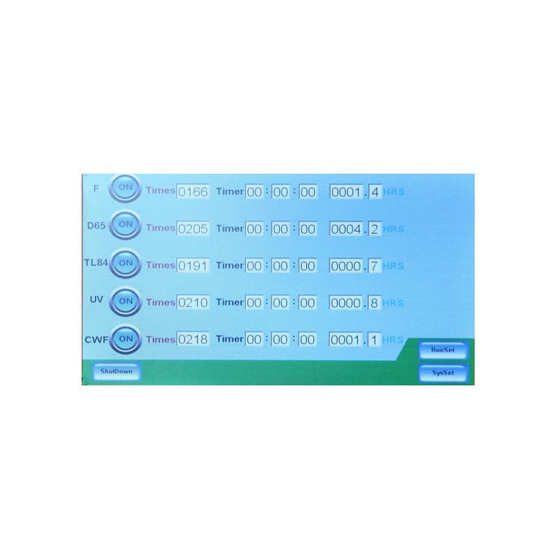 Cabine à lumière - 6 sources - D65/TL84/CWF/F/UV/U30
