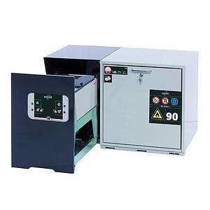 Caisson de ventilation à filtration intégréavec adapt. montage mural