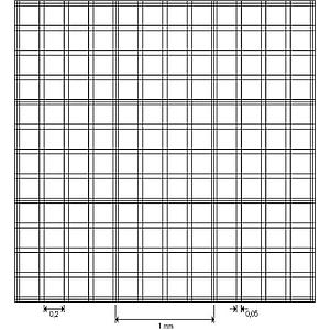 Cellule de numération Bürker - réseau double- sans pinces