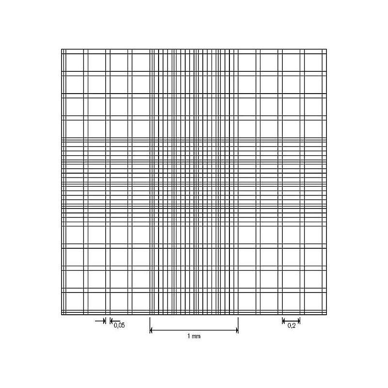 Cellule de numération Bürker-Türk - réseau double - avec pinces