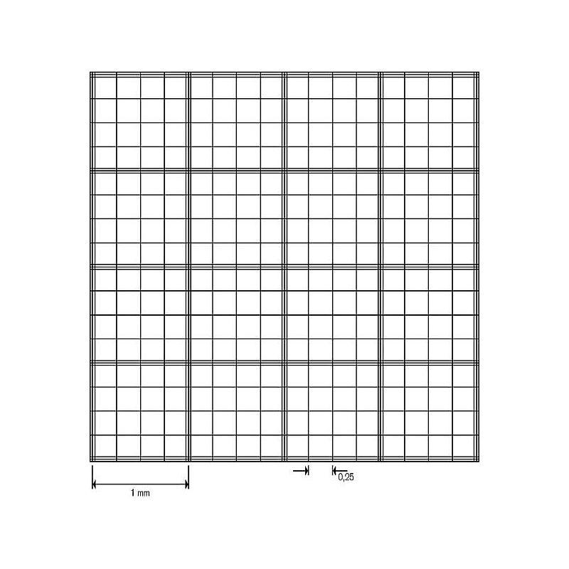 Cellule de numération Fuchs-Rosenthal - réseau double - sans pinces
